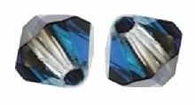Toupies Swarovski 4mm CRYSTAL BERMUDA BLUE / 20 perles