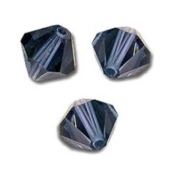 DARK INDIGO 10 Perles Toupies 6mm Cristal Swarovski