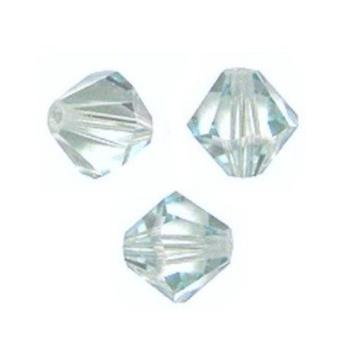 Toupies Swarovski 6mm LIGHT AZORE  Coupe XILION / 10 perles