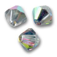 Toupies Swarovski 6mm CRYSTAL VITRAIL MEDIUM / 10 perles
