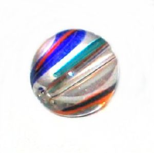 Boule verre pop multicolore 10mm / 10 perles