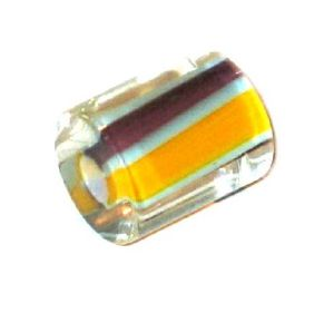 Cylindre long verre pop Orange et prune 13x10mm / 10 perles