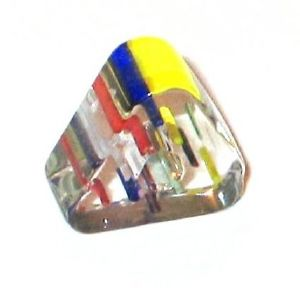 Triangle verre pop Multicolore 6x10mm / 10 perles