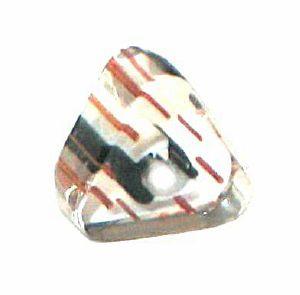 10 Perles Triangle verre pop bleu jaune blanc 6x10mm