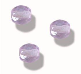 MEDIUM AMETHYSTE AMETHYST AB 50 Perles Facettes de boheme 4mm