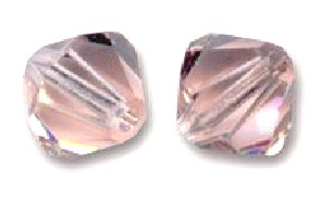 Toupies Swarovski 4mm VINTAGE ROSE / 25 perles