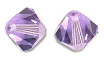Toupies Swarovski 4mm LIGHT TANZANITE / 25 perles