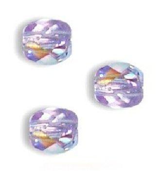 50 Perles Facettes de boheme 4mm GARNET AB