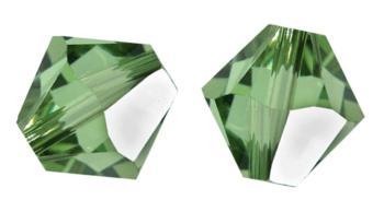 25 Perles Toupies 4mm Cristal Swarovski PERIDOT