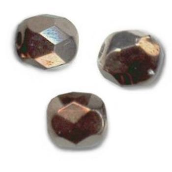 50 Perles Facettes cristal de boheme 4mm ARGENTEES SILVER ALU MAT
