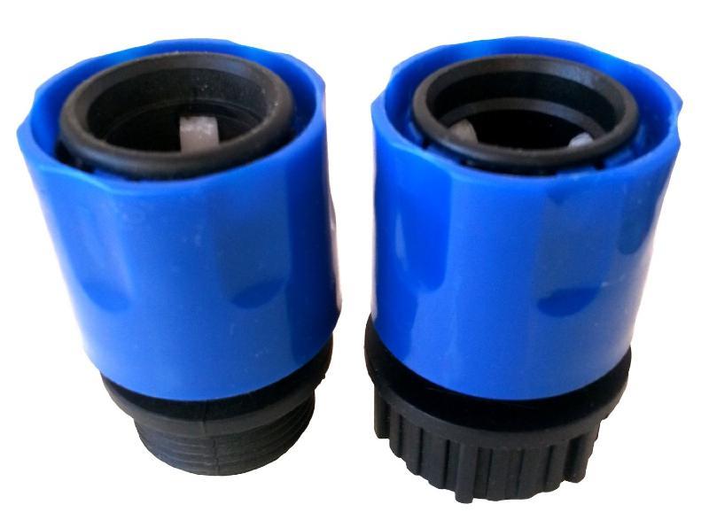 Adaptateurs raccord 3 4 a visser et rapide type gardena - Adaptateur pour robinet d interieur gardena ...