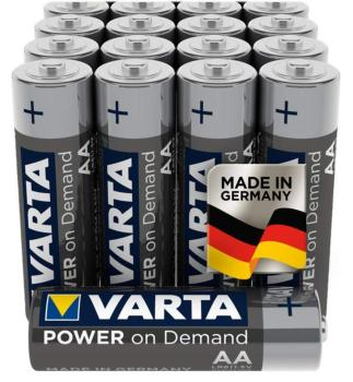 Piles baton VARTA Power on demand AA  R6  LR6 1.5 Volts Longue durée / lot de 4