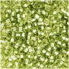 Perles Rocaille 2 mm Green Argent Lined / 20 Grammes +/- 2500 perles