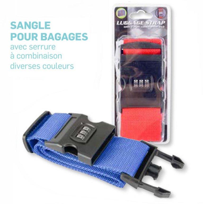 sangle pour bagage combinaison code 3 chiffres pour valise sac. Black Bedroom Furniture Sets. Home Design Ideas