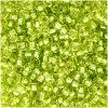 Perles Rocaille 2 mm Vert Clair Argent Lined / 20 Grammes +/- 2500 perles
