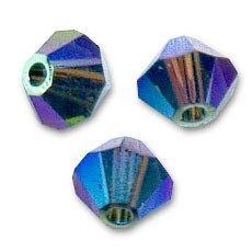 15 Perles Toupies 4mm en cristal Swarovski  MORION AB2X