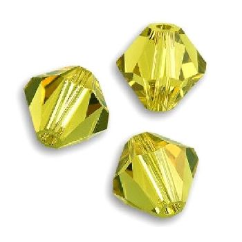 Toupies Swarovski 4mm LIME / 25 perles