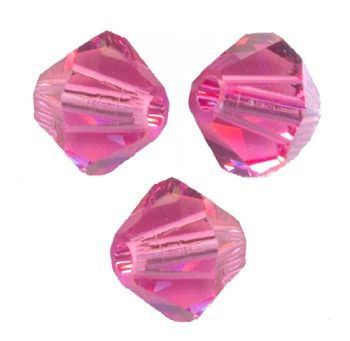 Toupies Swarovski 6mm ROSE / 10 perles