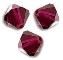 Toupies Swarovski 6mm RUBY / 1 perle