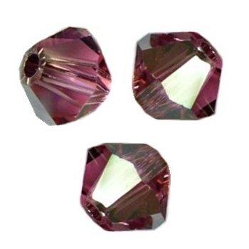 **12 perles  toupies 6 mm AB SWAROVSKI RUBIS  AB PORT GRATUIT  5328  **