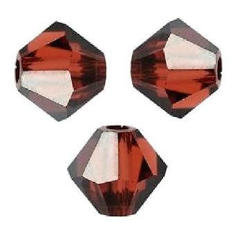 Toupies Swarovski 4mm INDIAN RED SATIN / 20 perles