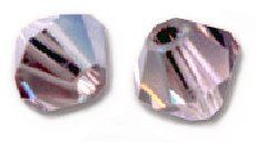 Toupies Swarovski 4mm LIGHT AMETHYST SATIN / 20 perles  *PROMO* + prix degressif